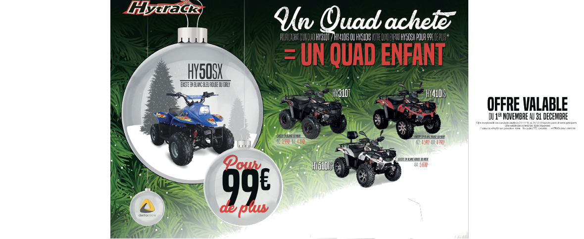 OFFRES NOEL QUADS HYTRACK